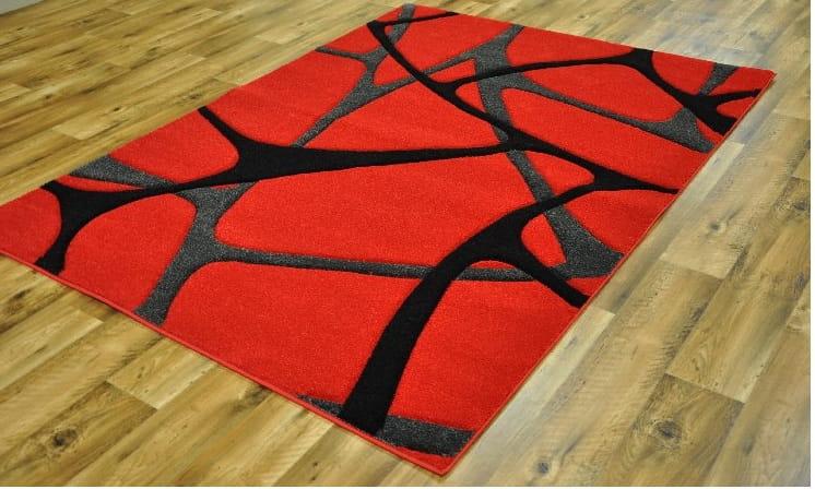 Dywan Czerwono Czarny Materiały Budowlane
